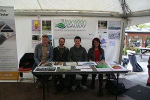 Transition Galway information stall and members.