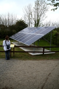 New PV (photovoltaic) array at Brigit's Garden.