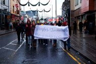 Banner of march at the front going down Williamsgate Street